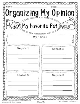 power writing graphic organizer