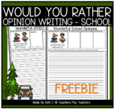Opinion Writing and Graphs for Winter
