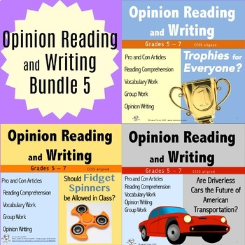 Opinion Writing and Opinion Reading Bundle 5