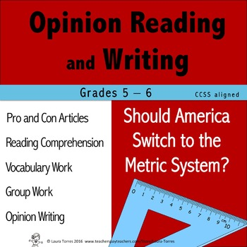 Opinion Writing and Opinion Reading - Should America Switch to Metrics?