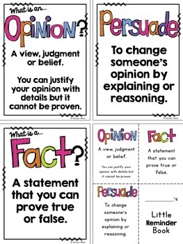 Opinion Writing and Persuasive Writing + Task Cards!