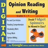Opinion Writing and Reading DIGITAL - Fidget Spinners in t