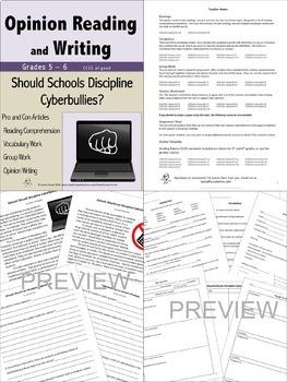 Opinion Writing and Reading Mega Bundle