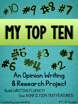 Opinion Writing and Research - My Top Ten