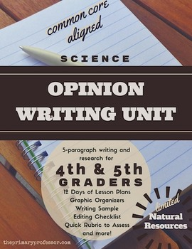 Opinion Writing and Research Unit - Limited Natural Resources