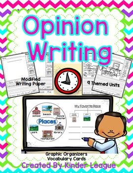 Opinion Writing by Kinder League