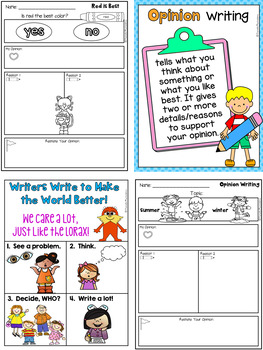 Opinion Writing for Beginning Writers