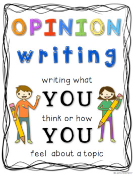 Opinion Writing for Beginning Writers Four Seasons Differentiated
