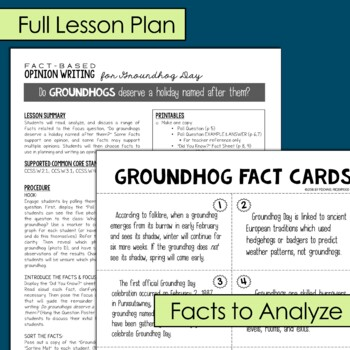 Opinion Writing for February {BUNDLE: Groundhog, Valentine's, Presidents' Day}