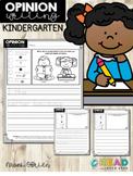 Opinion Writing for Kindergarten