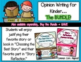 Opinion Writing for Kindergarten: THE BUNDLE {Editable}