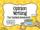 Opinion Writing for Kindergarten ~ The Tastiest Breakfast! {Common Core}