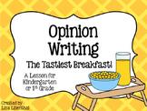 Opinion Writing for Kindergarten ~ The Tastiest Breakfast! {Common Core}