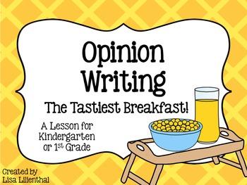 Opinion Writing for Kindergarten ~ The Tastiest Breakfast!