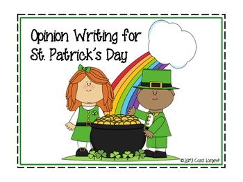 Opinion Writing for St. Patrick's Day