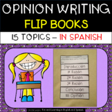 Opinion Writing in SPANISH - Flip Books - 15 topics