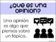 Opinion Writing in Spanish