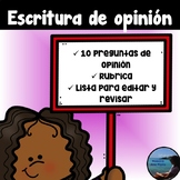 Opinion Writing in Spanish / Escritura de Opinion