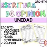 Opinion Writing in Spanish/ Unidad de opinion