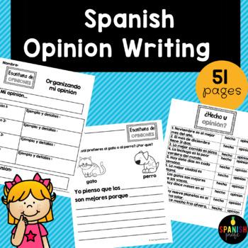 Opinion Writing in Spanish - Unit- (Escritura de opiniones