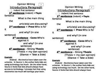 Opinion Writing made simple