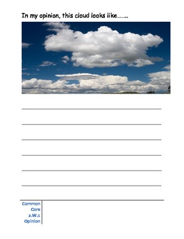 Opinion Writing on Clouds