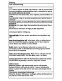 Opinion Writing on Ice Cream Common Core Lesson Plan Editable