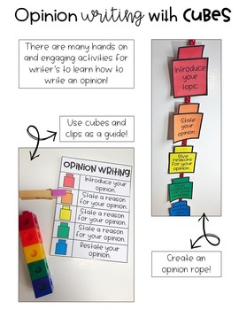 Opinion Writing with Cubes-A Hands on Approach