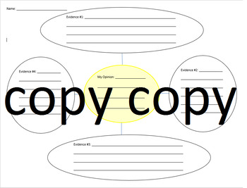 Opinion and Evidence Graphic Organizer
