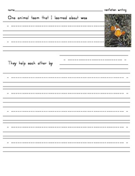 Opinion and Informational writing for Treasures Grade 1 Unit 5