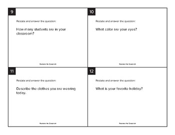 Opinion and Informative Writing Card Sort