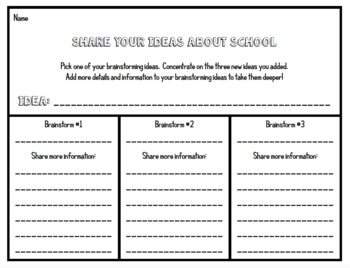 Opinion and Informative Writing - Four Lesson Printables Using Ideas and Voice