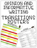 Opinion and Informative Writing Transitions Posters