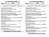 Opinion and Narrative Writing Checklist (Common Core: W2.1, W2.3)