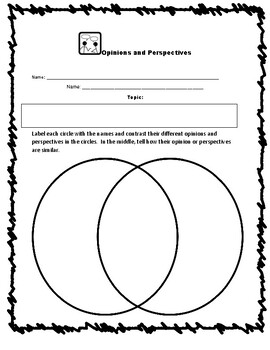 FREE Compare Opinions Organizers for Fiction or Nonfiction