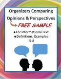 FREE Compare Opinions: Point of View and Perspective Organizers Any Text