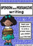 Boxes and Bullets Units of Study - Lucy Calkins Opinion and Persuasive Writing