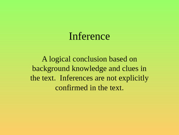 Opinion vs. Inference