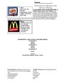 Opinion writing BK vs Mcdonalds graphic organizer