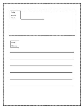 Opinion writing planner