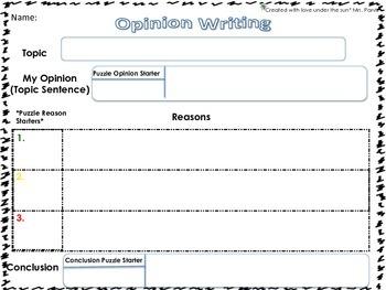Opinion/Persuasive Writing