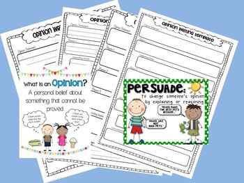 Opinion/Persuasive Writing Graphic Organizer