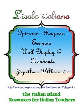 Opinione - Ragione - Esempio Wall Display and Handouts