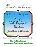 Opinione - Ragione - Esempio Wall Display and Handouts