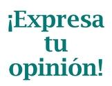 Opiniones / Spanish Opinion Phrases