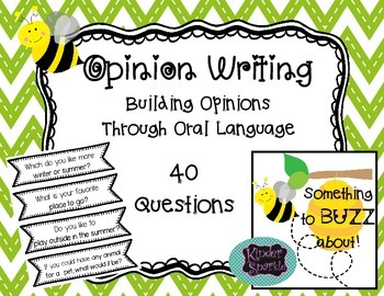 Opinions: Building with Oral Language
