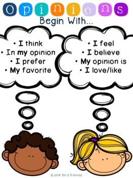 Opinions Poster Anchor Chart