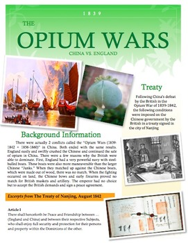 Opium War Lesson Bundle with Primary Sources and Close Reads!!!