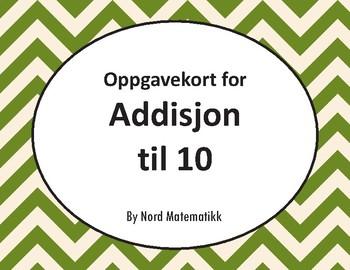 Norsk: Oppgavekort for Addisjon til 10