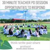 Opportunities to Respond Teacher Professional Development Think-Write-Pair-Share